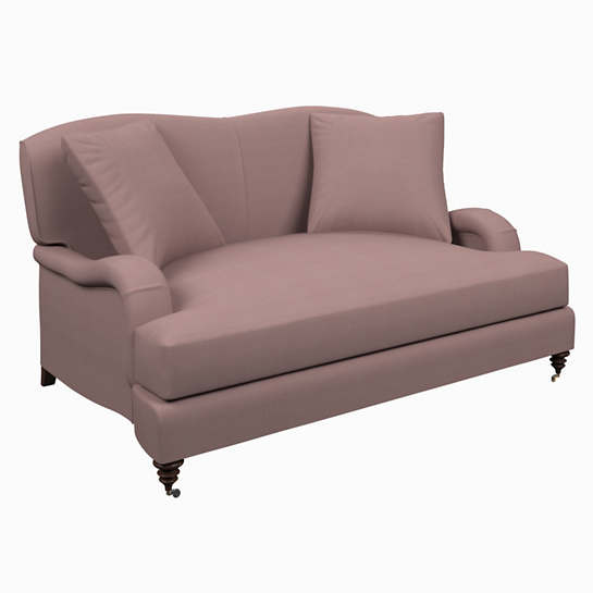 Estate Linen Zinc Litchfield Loveseat