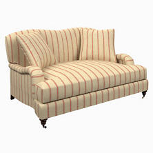 Glendale Stripe Brick/Brown Litchfield Loveseat
