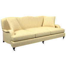 Adams Ticking Gold Litchfield 3 Seater Sofa