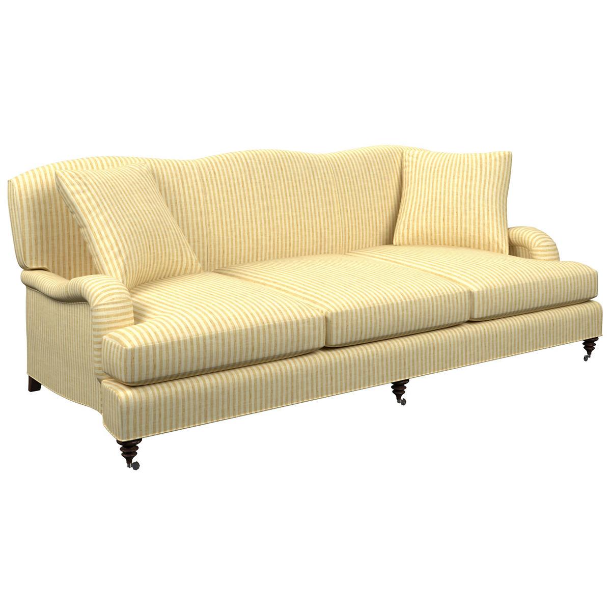 Adams Ticking Gold Litchfield 3 Seater Sofa