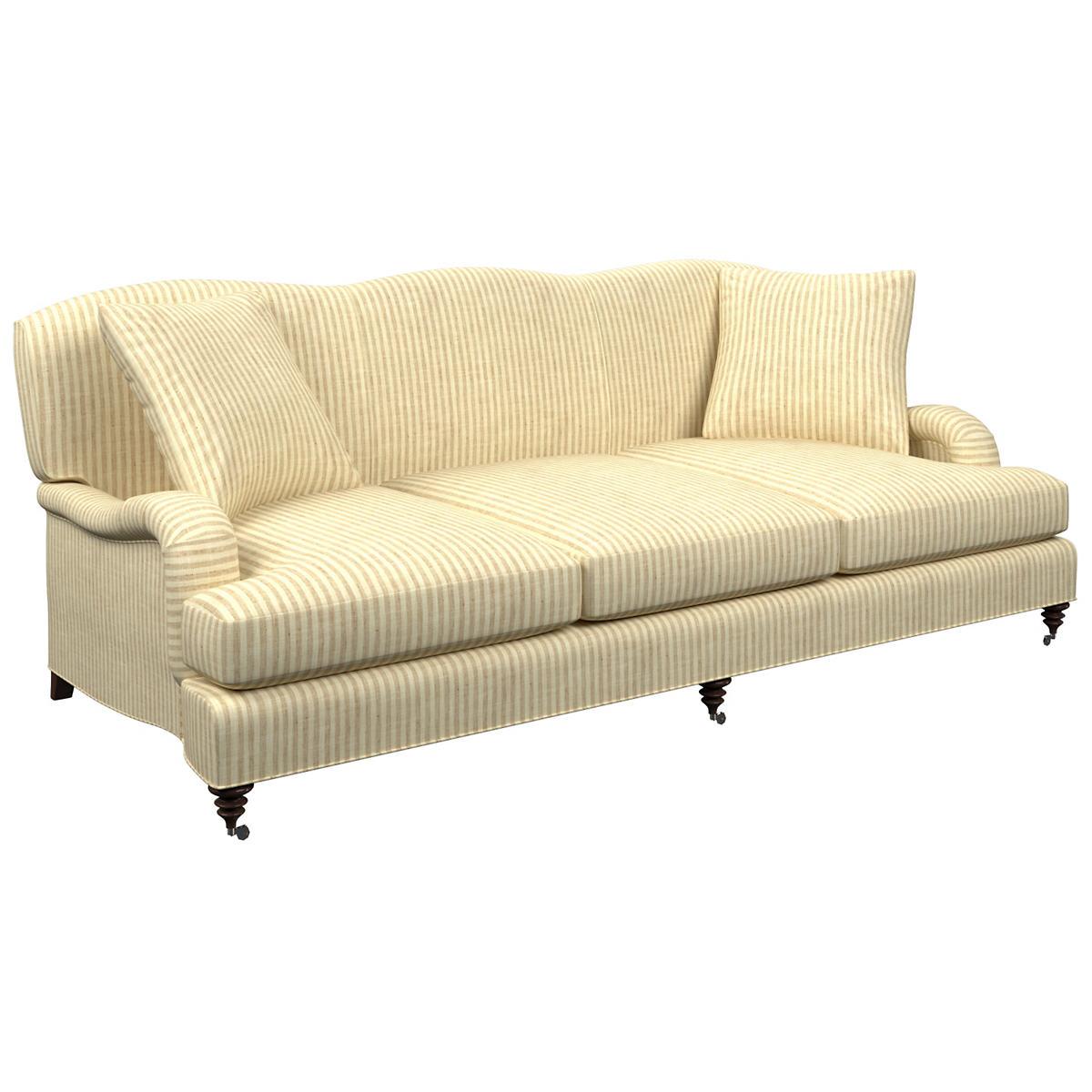 Adams Ticking Natural Litchfield 3 Seater Sofa