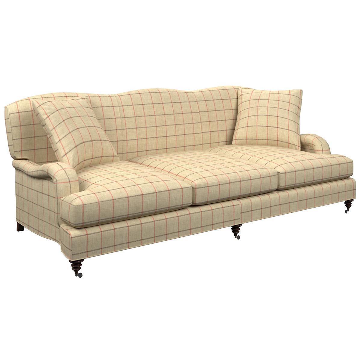Chatham Tattersall Brick/Brown Litchfield 3 Seater Sofa