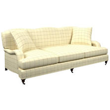 Chatham Tattersall Light Blue/Natural Litchfield 3 Seater Sofa