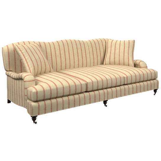 Glendale Stripe Brick/Brown Litchfield 3 Seater Sofa