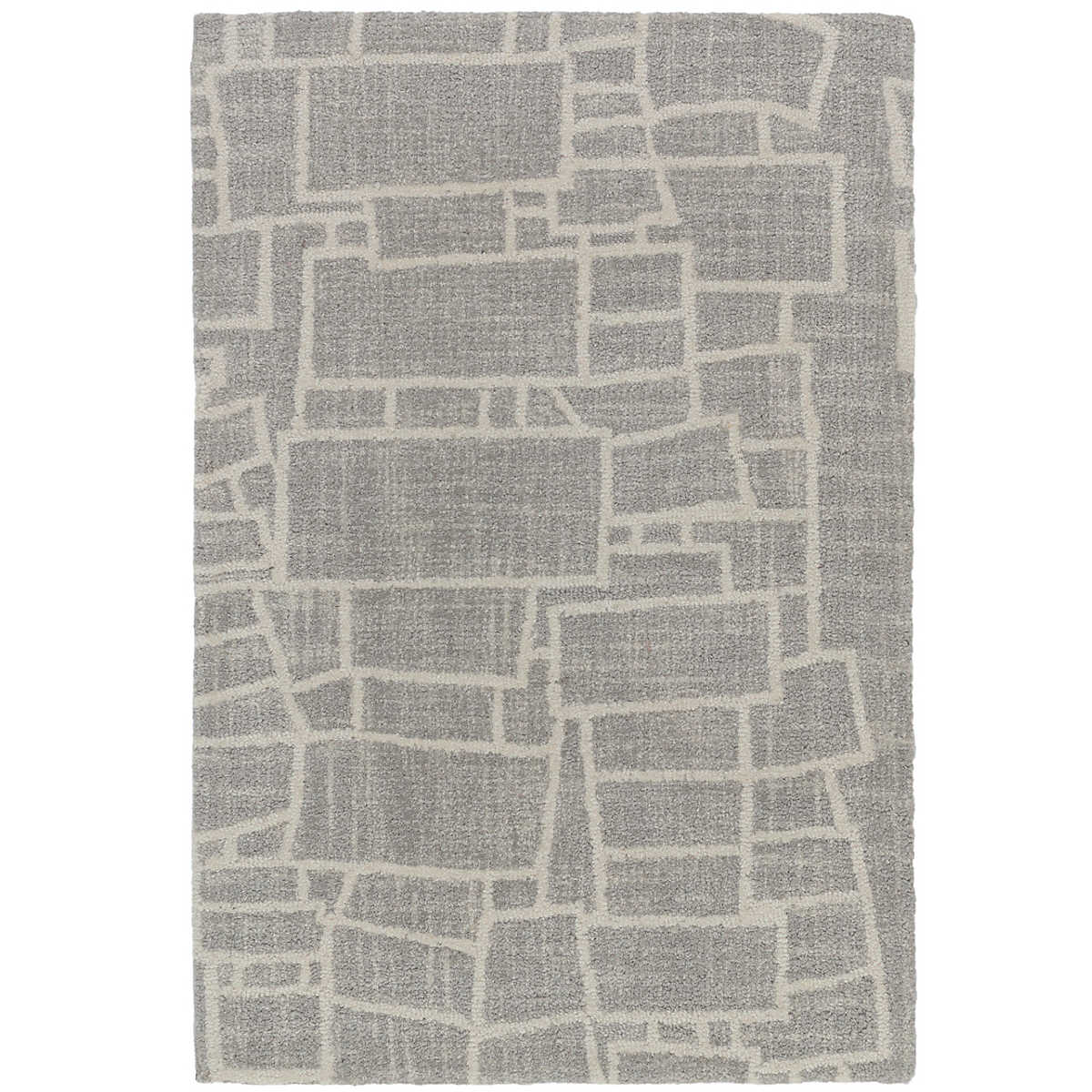 Now 40 Off Lloyd Grey Micro Hooked Wool Rug
