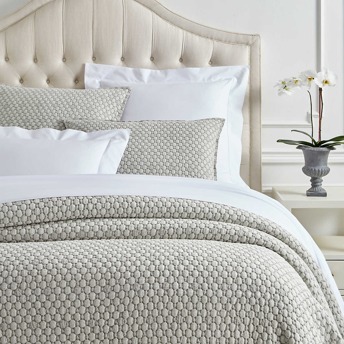 Lodi Silver Matelass 233 Coverlet Luxe
