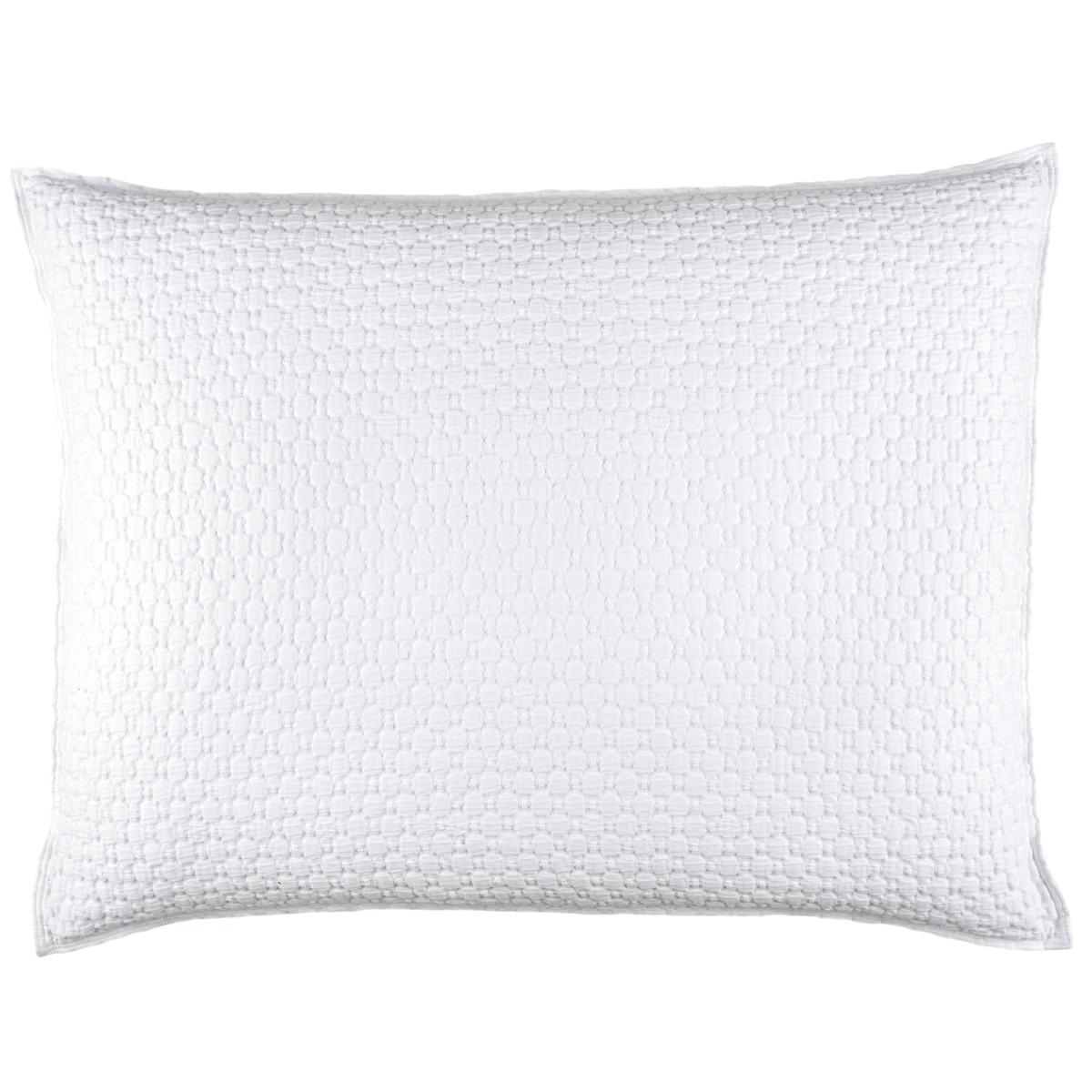 Lodi White Matelassé Decorative Pillow