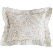 Lorenzo Paisley Semolina/Zinc Decorative Pillow