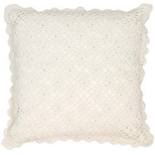 Lorient Crochet Ivory Decorative Pillow