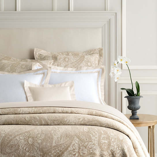 Loto Chenille Gold Coverlet