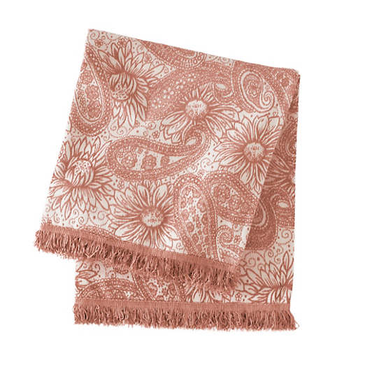Loto Chenille Rose Gold Throw