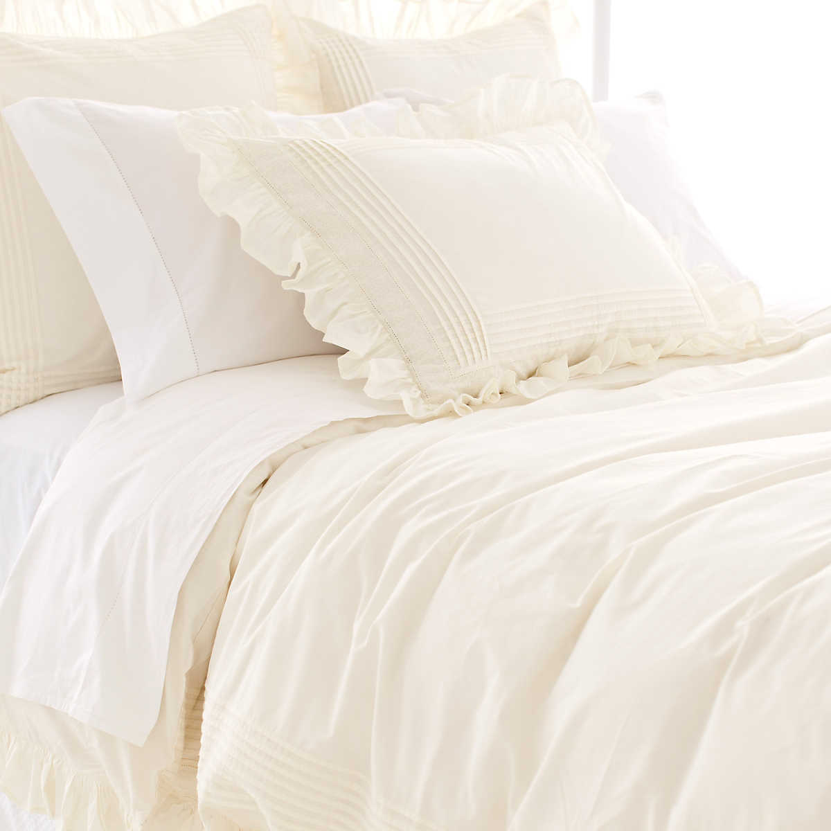Louisa Ivory Duvet Cover The Outlet