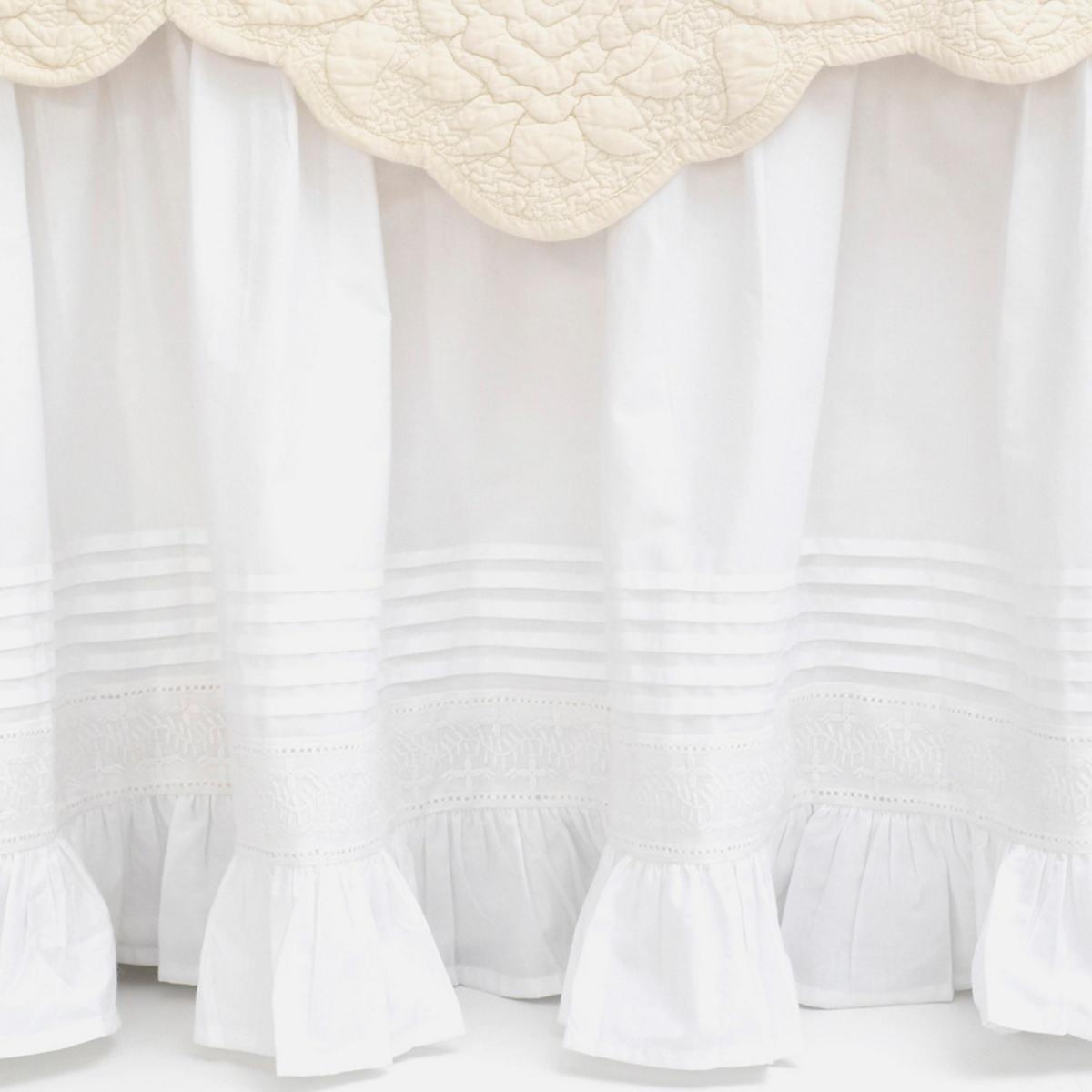 Louisa White Bed Skirt