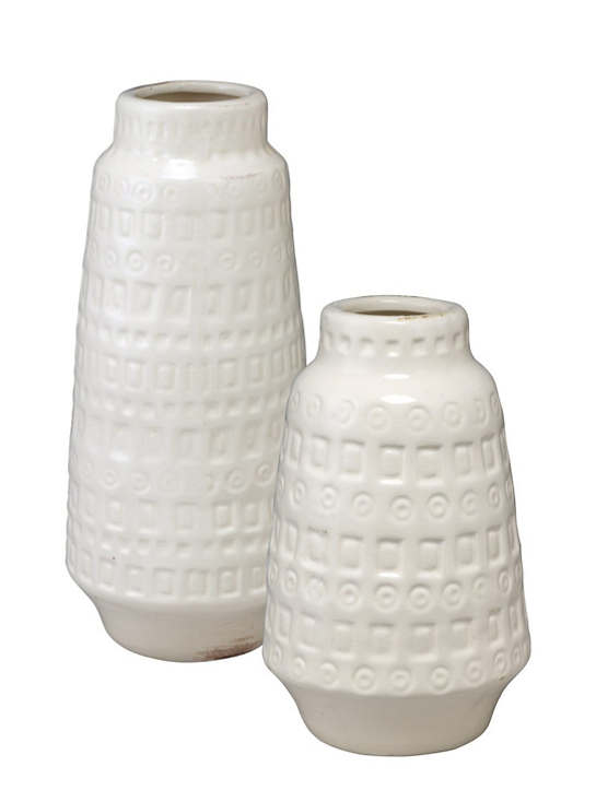 Lucia White Vase/Set Of 2