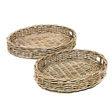 Lune Round Trays/Set Of 2