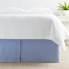 Lush Linen French Blue Bed Skirt