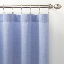 Lush Linen French Blue Curtain Panel