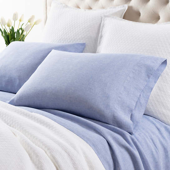 Lush Linen French Blue Pillowcases