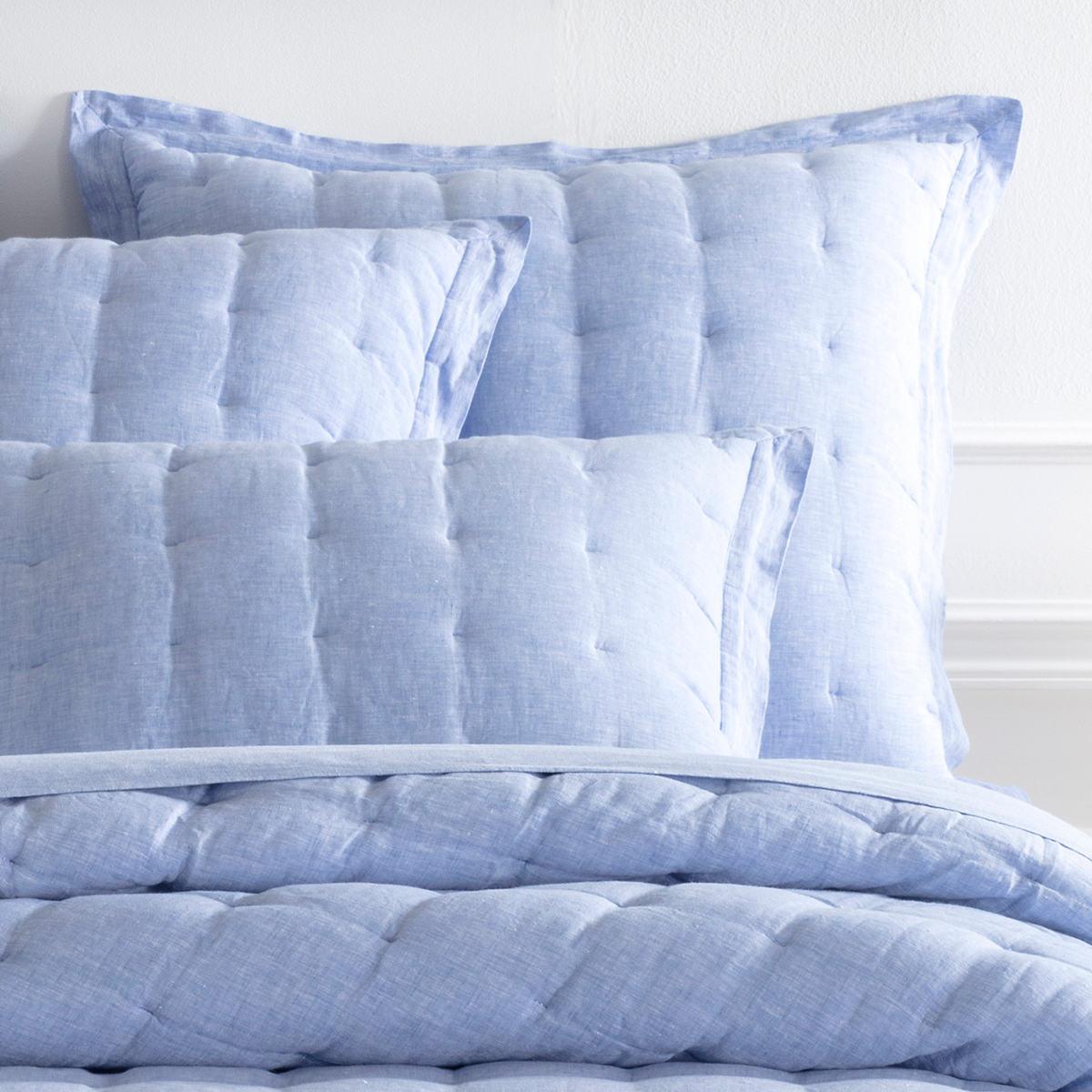 Lush Linen French Blue Puff Sham