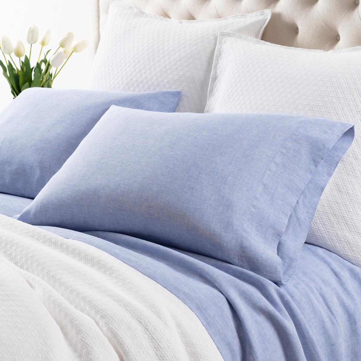 Lush Linen French Blue Sheet Set