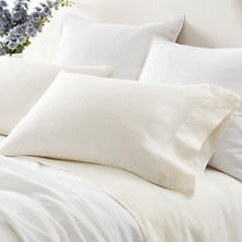Lush Linen Ivory Pillowcases