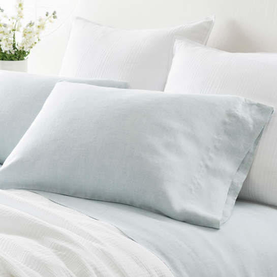Lush Linen Sky Pillowcases