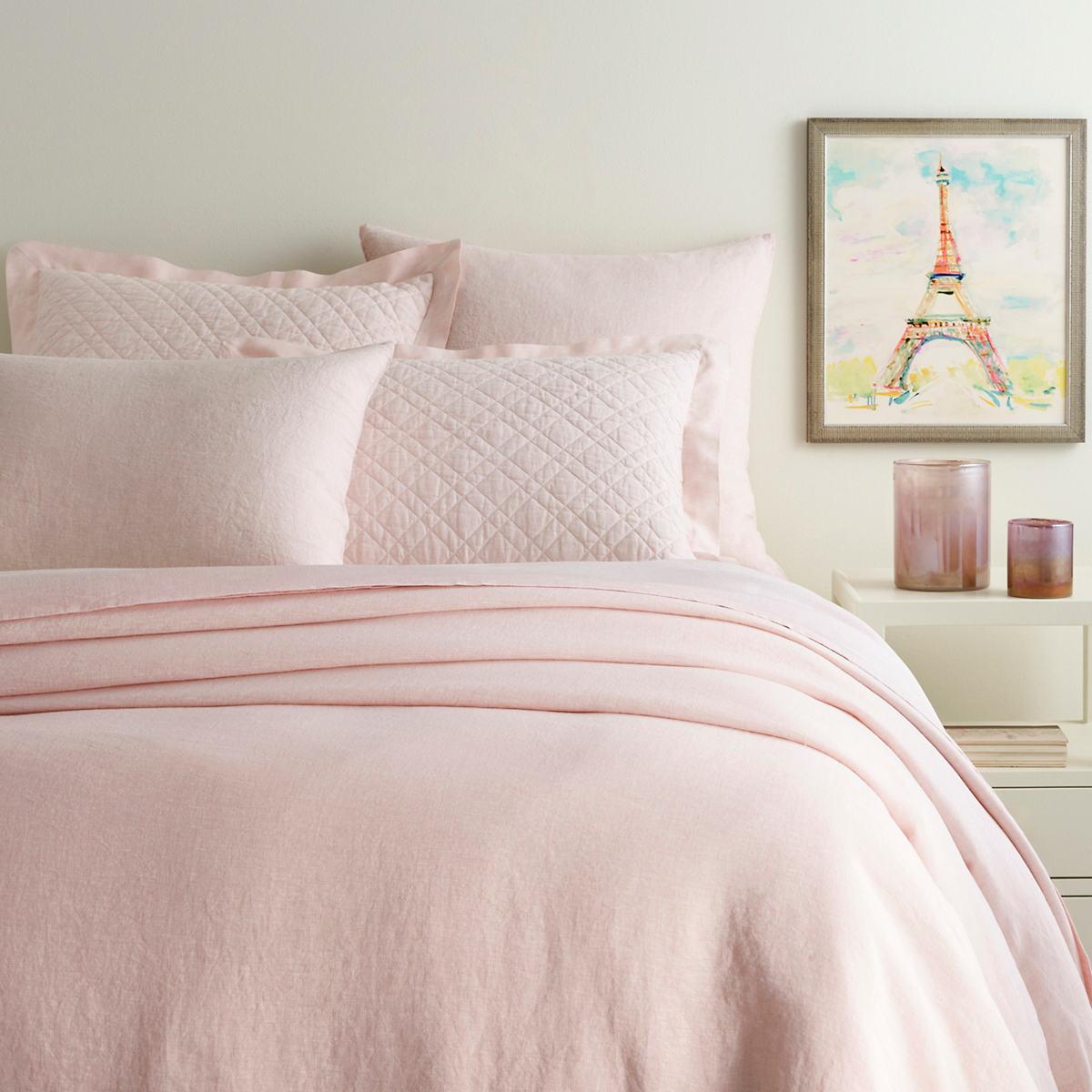 Lush Linen Slipper Pink Duvet Cover