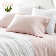 Lush Linen Slipper Pink Sheet Set