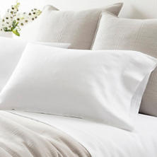 Lush Linen White Pillowcases