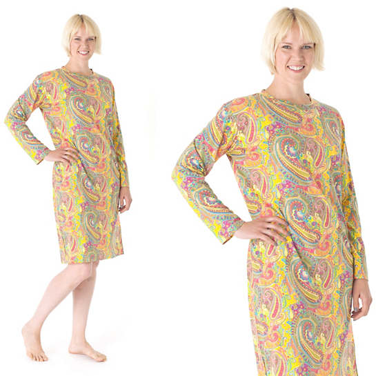 Lyric Paisley Crew Neck Nightdress