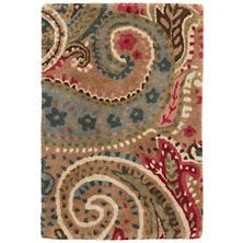 Lyric Paisley Spice Tufted Wool Rug