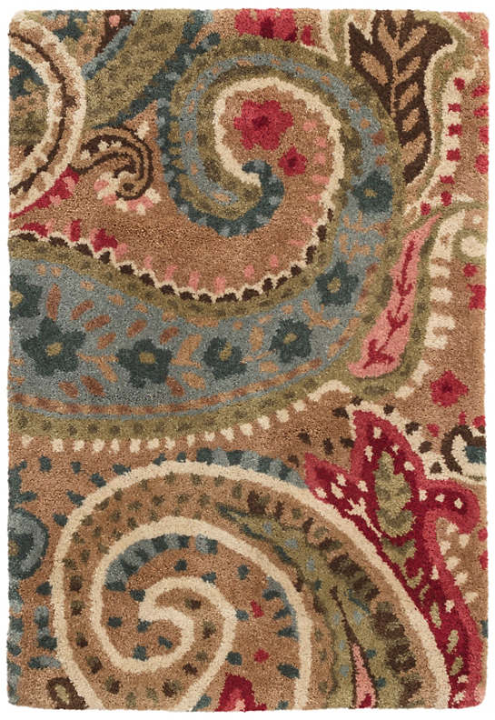 Lyric Paisley Spice Tufted Wool Rug
