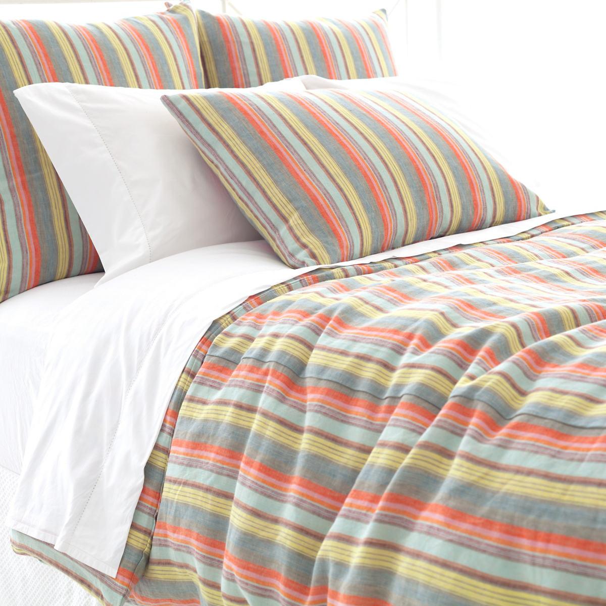 Lyric Stripe Linen Duvet Cover