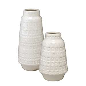 Lucia White Vessels/Set of 2
