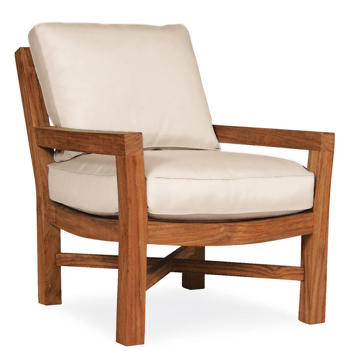 Mahkeenac Outdoor Chair Linen White Canvas