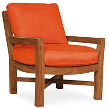Mahkeenac Outdoor Chair Tangerine Canvas