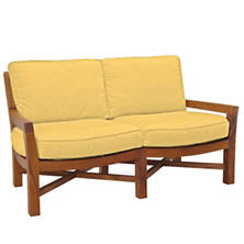 Mahkeenac Outdoor Loveseat Daffodil Canvas