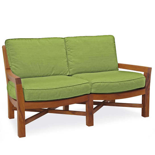 Mahkeenac Outdoor Loveseat Sprout Canvas