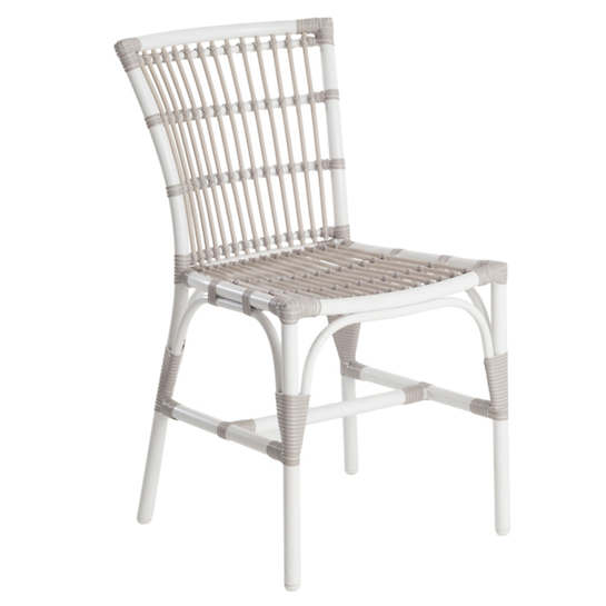 Malacca Dove White Outdoor Dining Chair