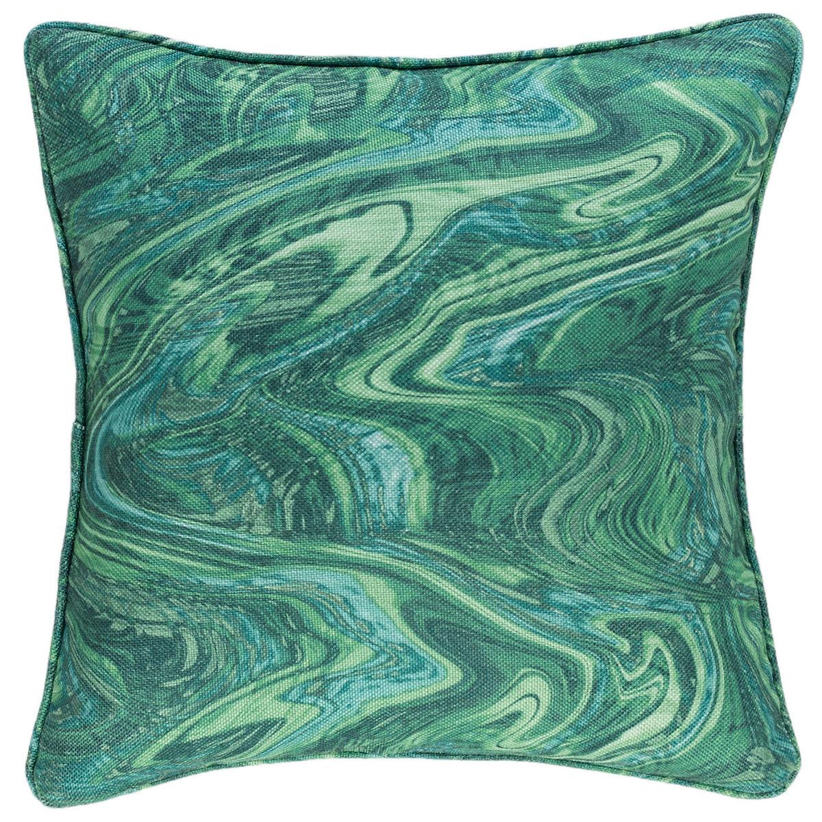 Malachite Indoor/Outdoor Decorative Pillow
