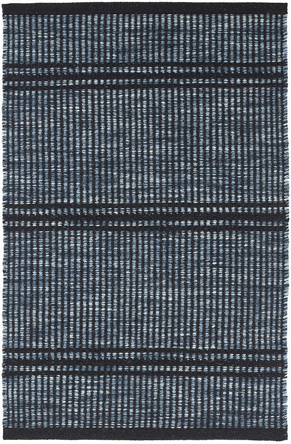 Malta Navy Woven Wool Rug