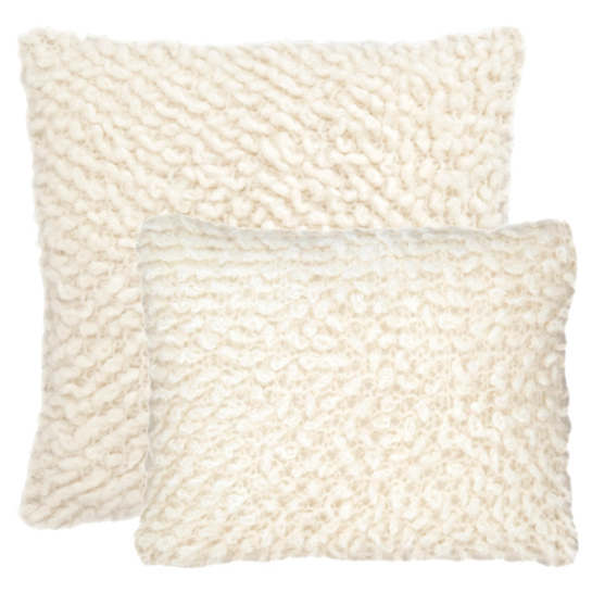 Mara Knit Ivory Decorative Pillow