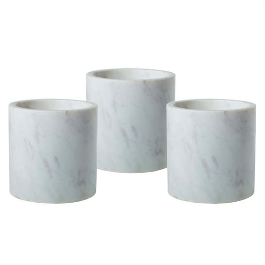 Marble  Cylinders Variety/Set Of 3