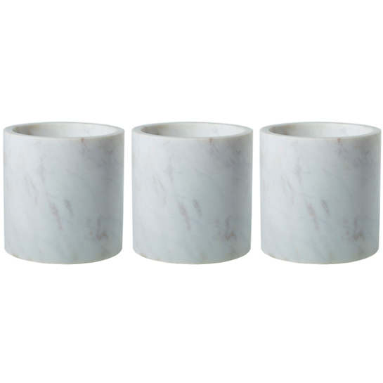 Marble  Cylinders/Set Of 3