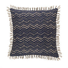 Marianna Linen Greek Key/Chevron Decorative Pillow