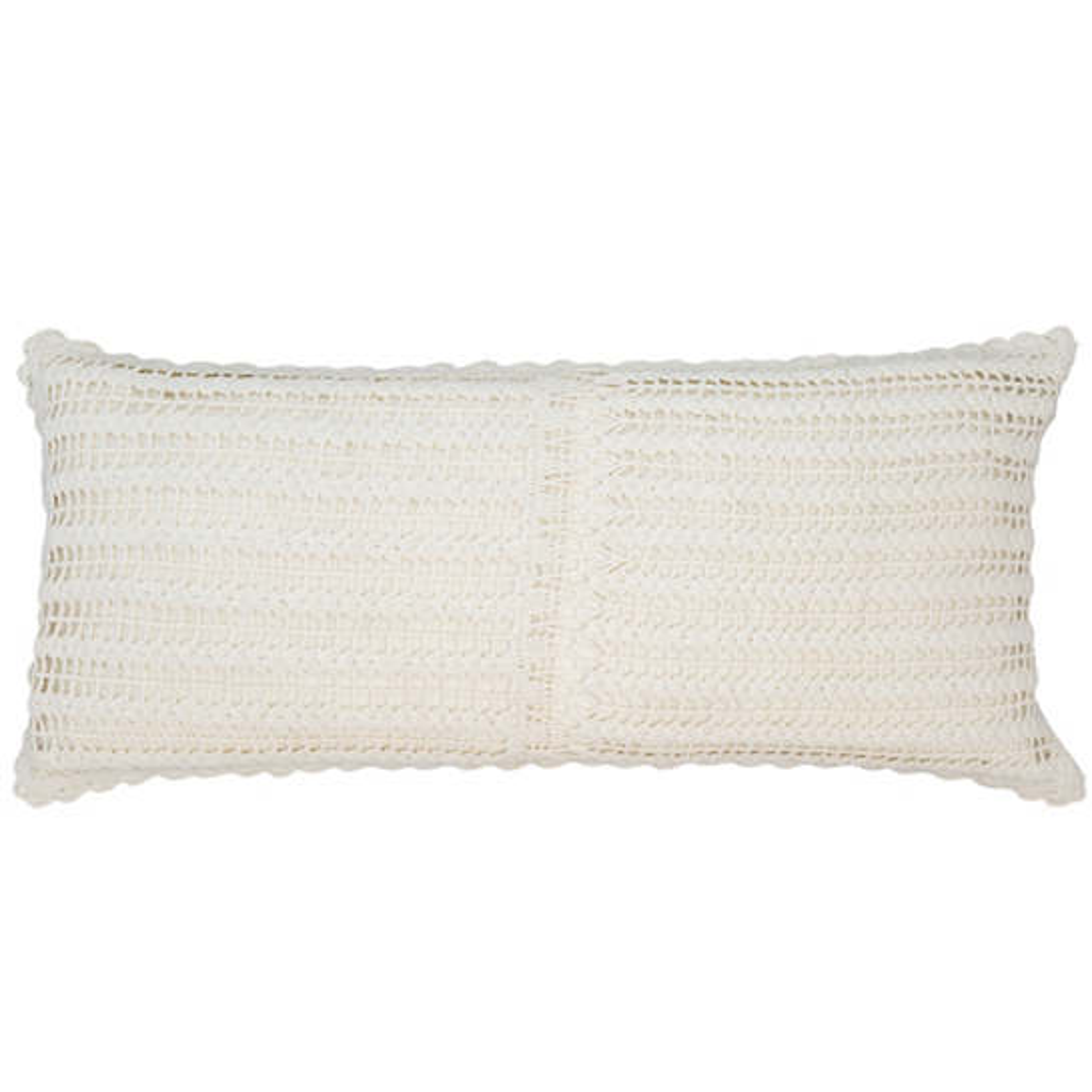 Marigot Crochet Ivory Decorative Pillow