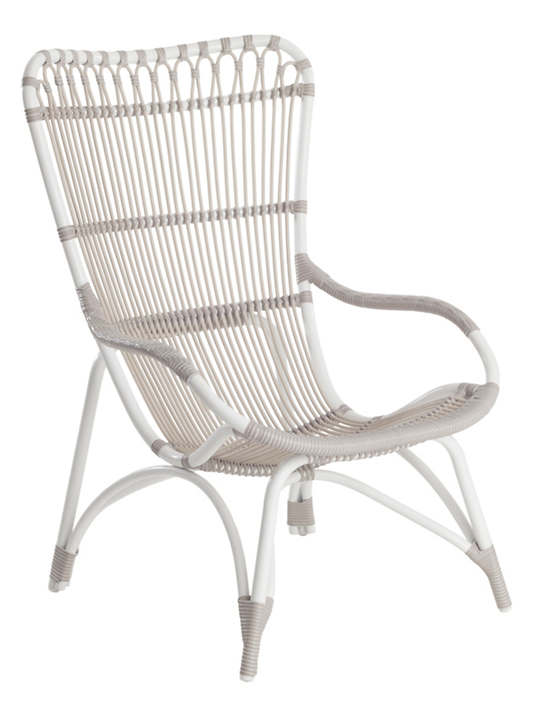 Marimba Dove White Outdoor Highback Chair