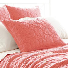 Marina Coral Quilted Sham