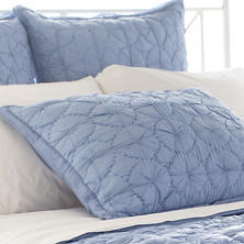 Marina French Blue Quilted Sham