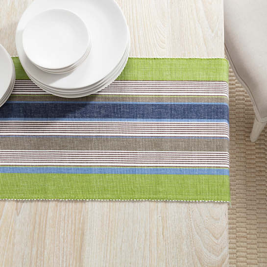 Marina Stripe Table Runner